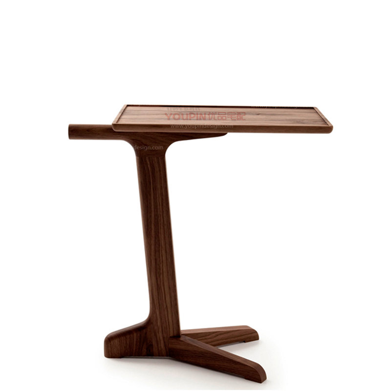 Direct genuine walnut solid wood side table small coffee for Sofa side table