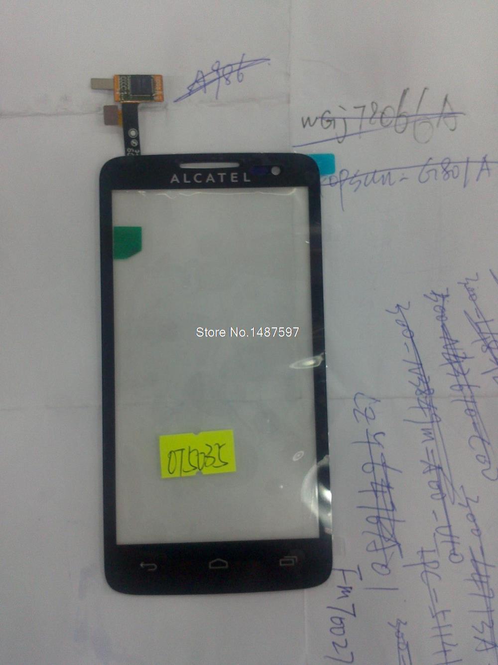 Free shipping 10pcs Alcatel OT5035 OT3035 new original touch screen Alcatel OT5035 touch(China (Mainland))
