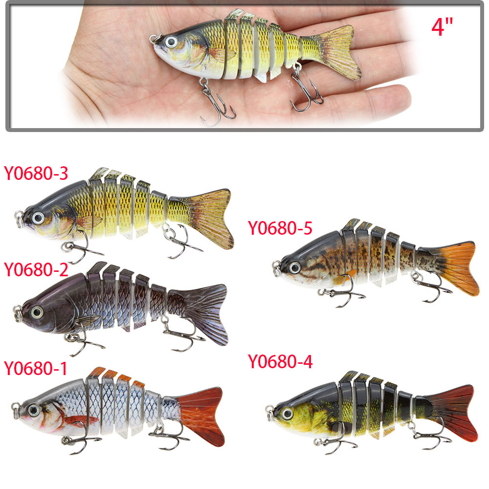Lixada fishing lure 10cm 4 bionic multi jointed artificial lifelike pesca hard fishing Best lures for pond fishing