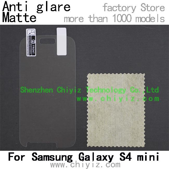 matte anti glare screen protector protective film for Samsung Galaxy S4 mini I9190 I9192 I9195 I9197