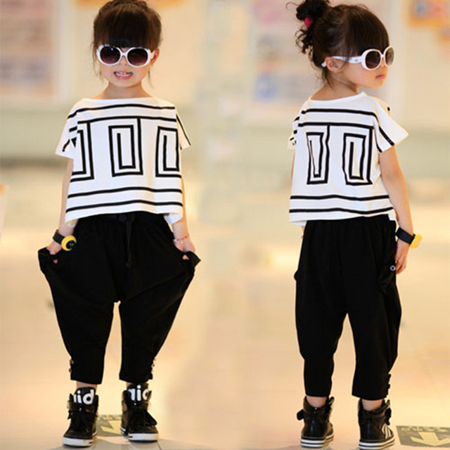 Детская одежда устанавливает 2016 новых Девушек спортивный костюм лето Летучая Мышь ...