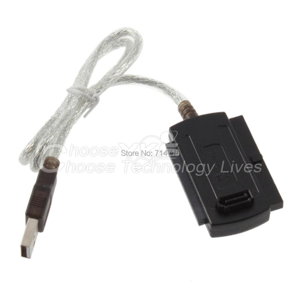 New USB 2.0 to IDE SATA 5.25 S-ATA/2.5/3.5 Adapter Cable 100% Brand New(China (Mainland))