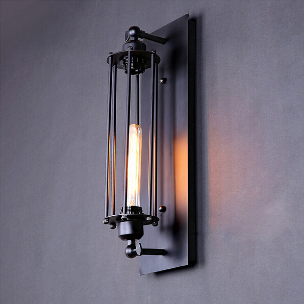 Фотография Lamp Creative Designers Balcony Stairs Bar Light American Style Retro Industry Alcatraz Rron Wall Sconce