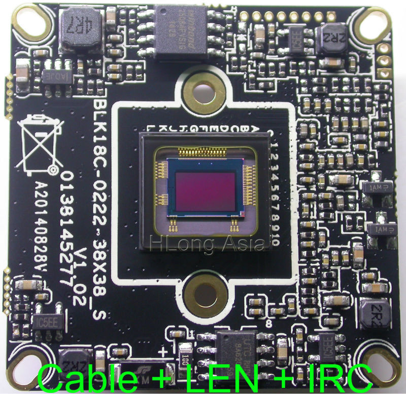 "IPC IPG 1080P 1920 x 1080 1/2.8"" SONY IMX322 board Hi3516 CCTV board, IP camera module with LAN cable + 2.0MP LEN + IRC.(China (Mainland))"