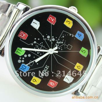 fashion quartz watch men women ladies students stainless wrist/L20/Free Shipping!