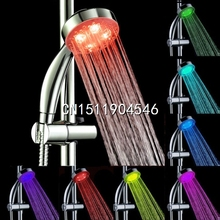2015 New Handheld 7Color LED Romantic Light Water Bath Home Bathroom Shower Head Glow