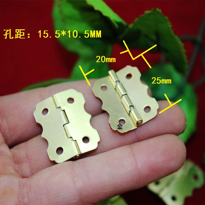Golden Color flower shaped steel jewelry box hardware folding hinge adjustable angle 20*25 mm(China (Mainland))