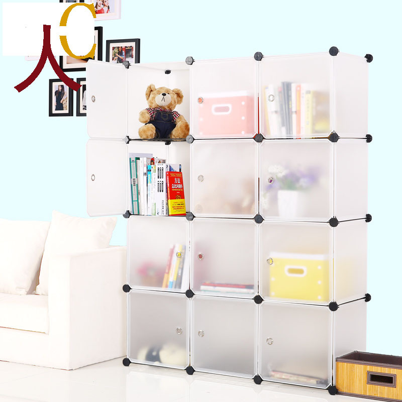 12boxes multifunctional plastic storage DIY white baby furniture with high-quality can be used storing clothes,toys,books(China (Mainland))