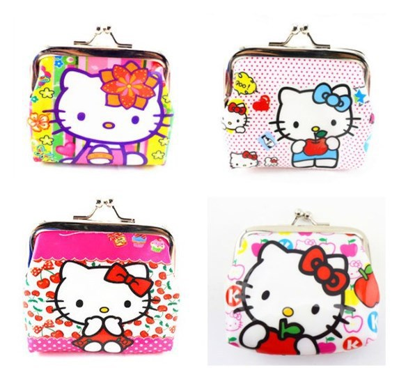 Children Carton Hello Kitty Small Change Coin Purse Girls Mini Wallet Gift For Kids Cheap Wallet 1PC Lowest Price(China (Mainland))