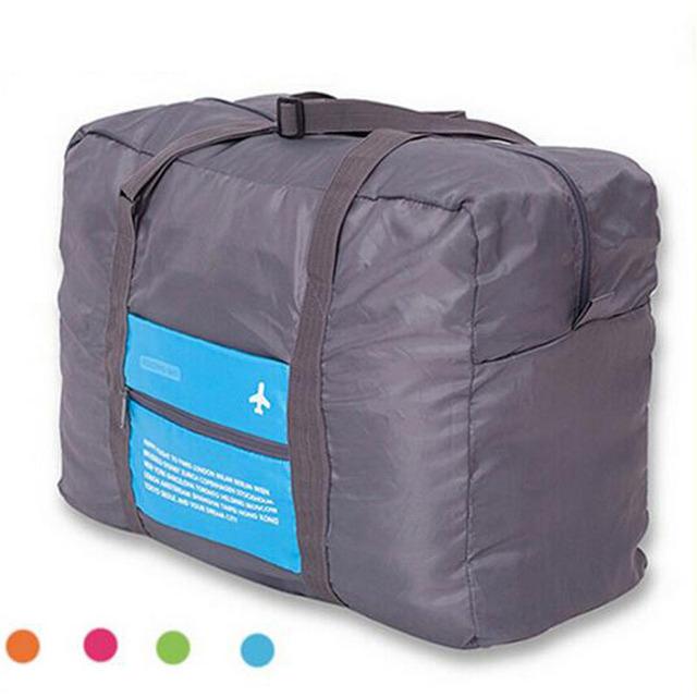 Мода дорожная сумка с большим объемом спорт доказательство воды женщины нейлон складной ...