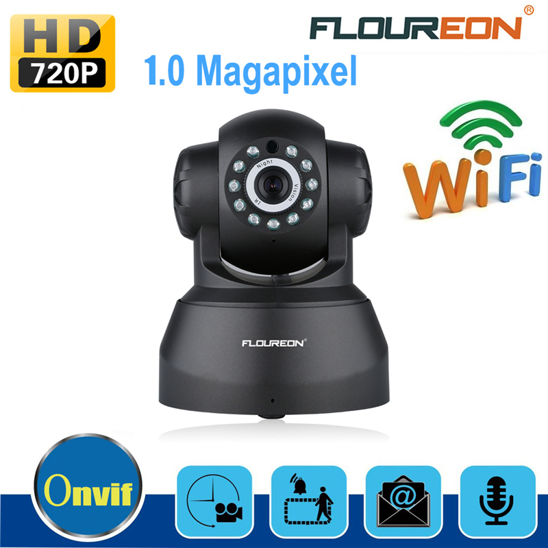 FLOUREON SP012 Wifi IP Camera 720P Network Infrared Wireless Cameras H.264 PT ONVIF Night Vision Motion Detection Security Cam(China (Mainland))