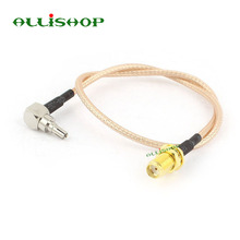 ALLiSHOP 0-6GHz SMA Female socket jack connector to crc9 adapter pigtail RG316 cable For HUAWEI PCI wifi router 3G USB Modem(China (Mainland))