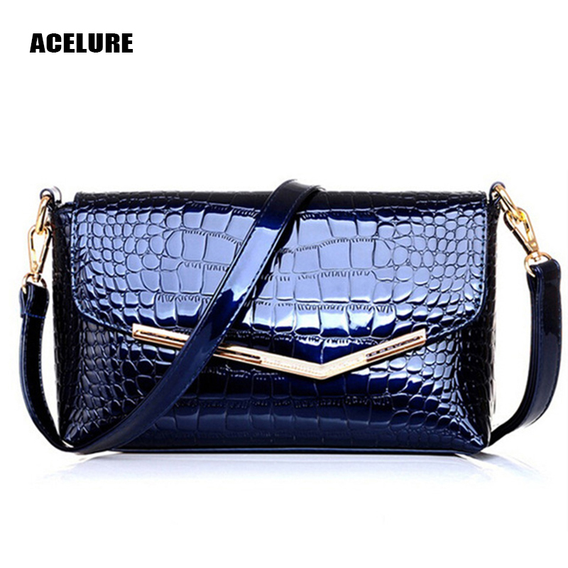 ACELURE 2017 Hot Selling New Women Crocodile Grain Leather Handbag Hand The Bill Of Lading Shoulder Slope Across Packets(China (Mainland))