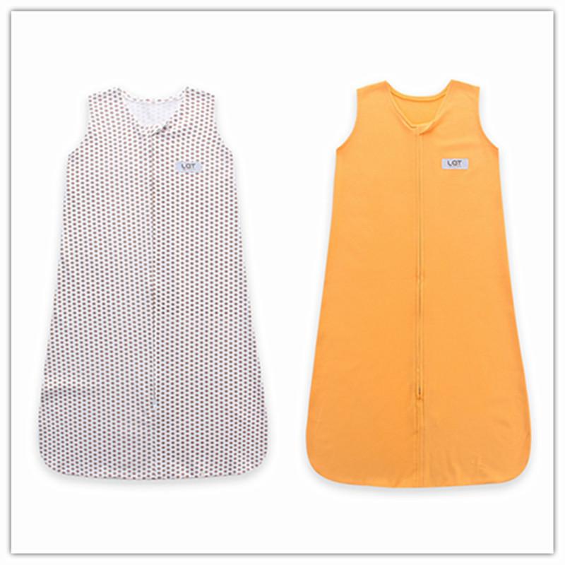 baby sleeping bag baby vest type bag 100% cotton knitted cloth sleeping bag baby anti kick quilt sleeping bag 82cm 12 colors(China (Mainland))