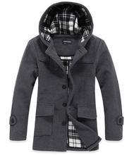 Free Shipping 2015 new fashion slim high-grade wrapping hooded wool coat(China (Mainland))