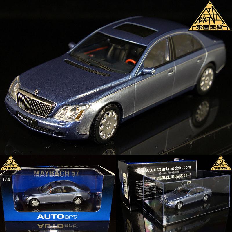 AUTOART 1:43 MAYBACH 57 SWB Alto Maybach 57 Silver Blue alloy model car(China (Mainland))