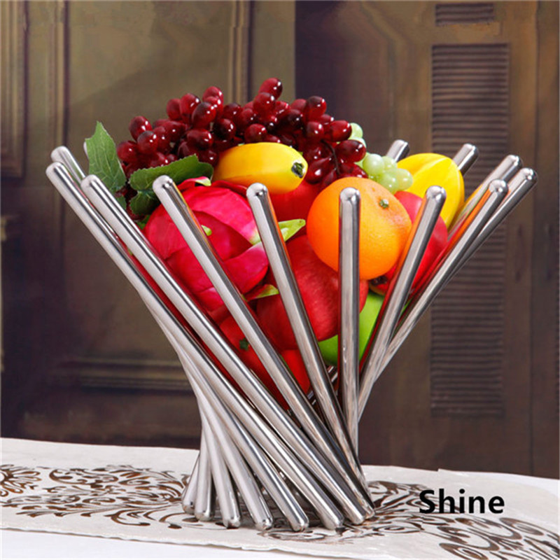 Creative Stainless Steel Rotating Fruit Plate Vortex Fruit Rack Tray Holder Basket Decor Living Room Shelves Free Shpiing(China (Mainland))