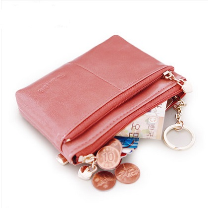 Pear doll lady purse female Korean American womens large capacity oil wax zipper coin bag key bag<br><br>Aliexpress