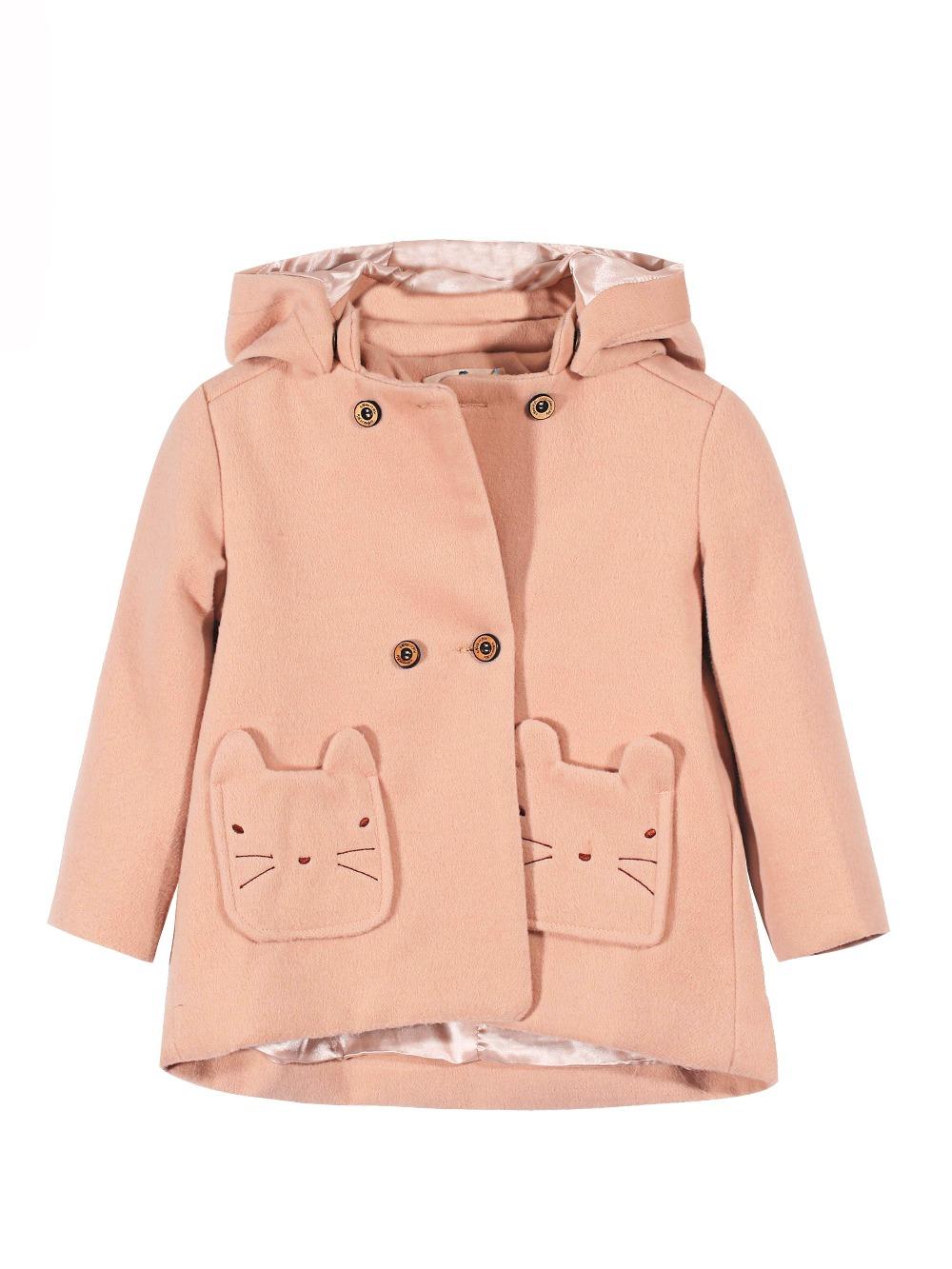 2016 Winter New Item Baby Girls Fashion Denim Jacket Girls Short-style Bow-print Denim Outerwear Jacket Child Denim Coat(China (Mainland))