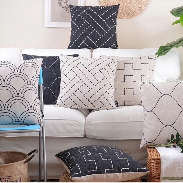 decorative pillow covers ikea geometric throw pillow covers, home decorative sofa cushion cover ...