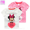 Kids Clothing Girl s T shirt Short sleeves Fashion Cotton Printed Cartoon O neck Baby Girls