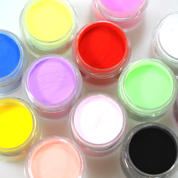 12 Pots Different Color Acrylic Powder Dust Jumbo Set for Professional Nail Design Free Shipping