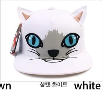 Fashion baseball caps snapback hats and cap cute lovely cat animal print hippop dancing cap adjusted 1pc(China (Mainland))