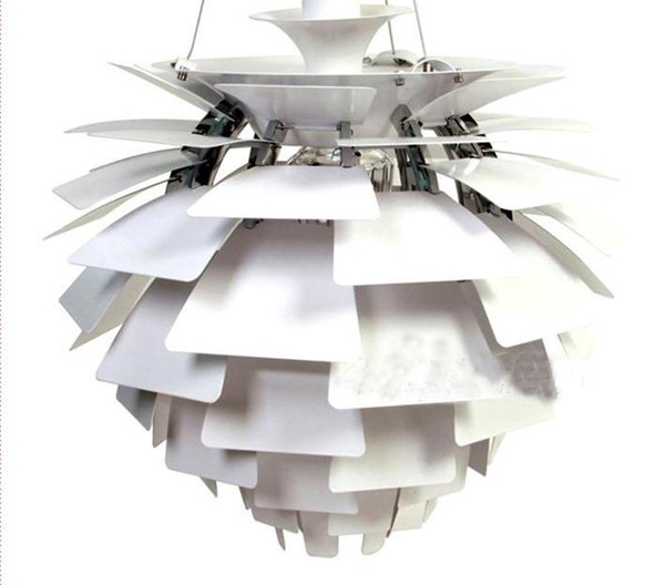 50CM White Silver Color aluminium lamp lighting designer Poul Henningsen PH Artichoke Pendant Lamp lights e27 for home<br><br>Aliexpress