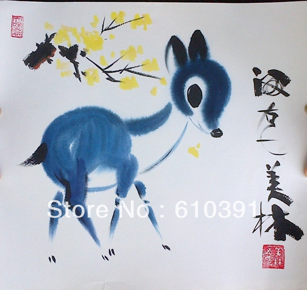Chinese Deer Painting Chinese Deer Painting(china