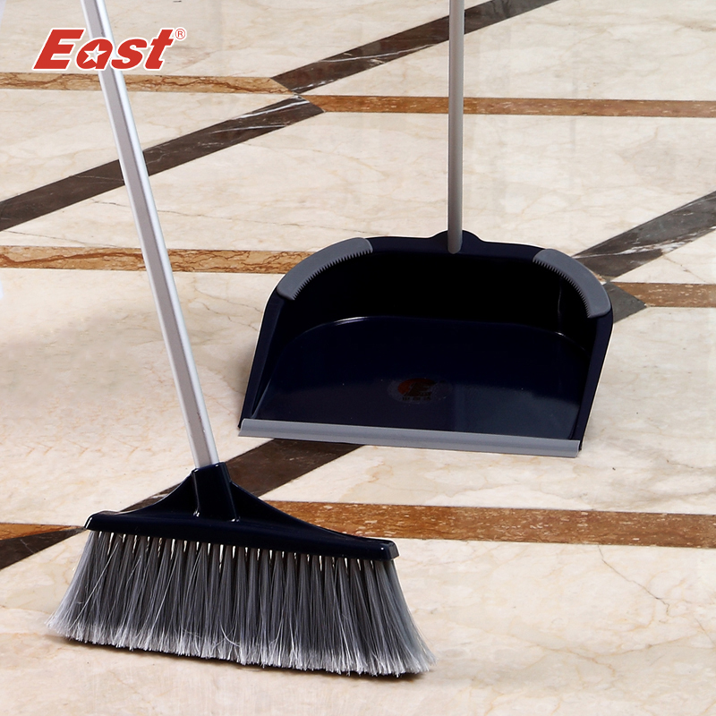East Stainless steel rod Luxury Broom dustpan combination set brooms & dustpans household cleaning products(China (Mainland))