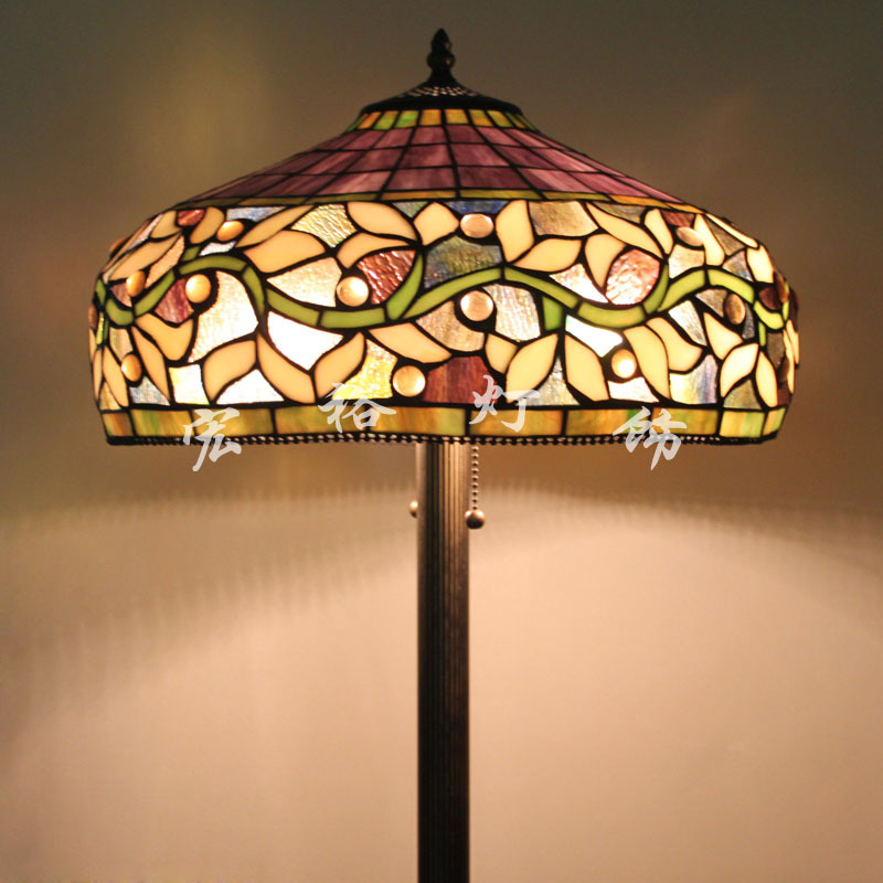 american tiffany stained glass floor lamp shade living room floor lamp. Black Bedroom Furniture Sets. Home Design Ideas