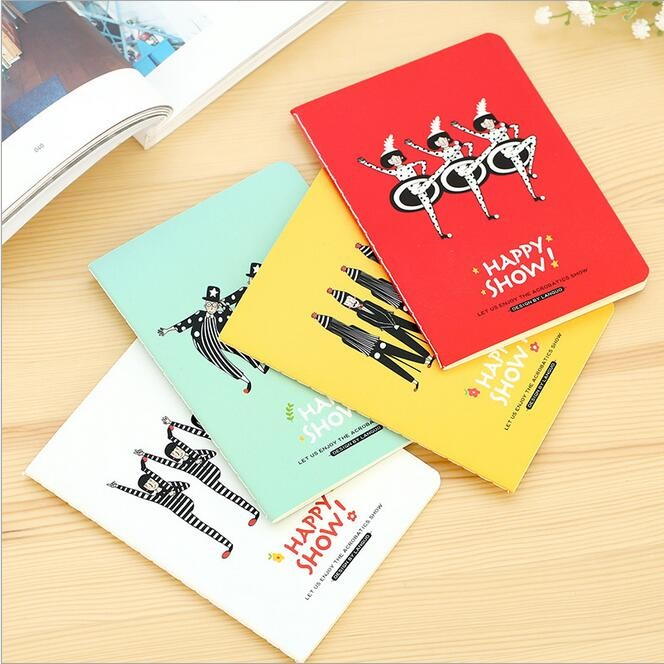 142*105mm/New Funny Acrobatic Troupe Series 64K White Blank notebook/kids Diary agenda/office school supplies/wholesale<br><br>Aliexpress