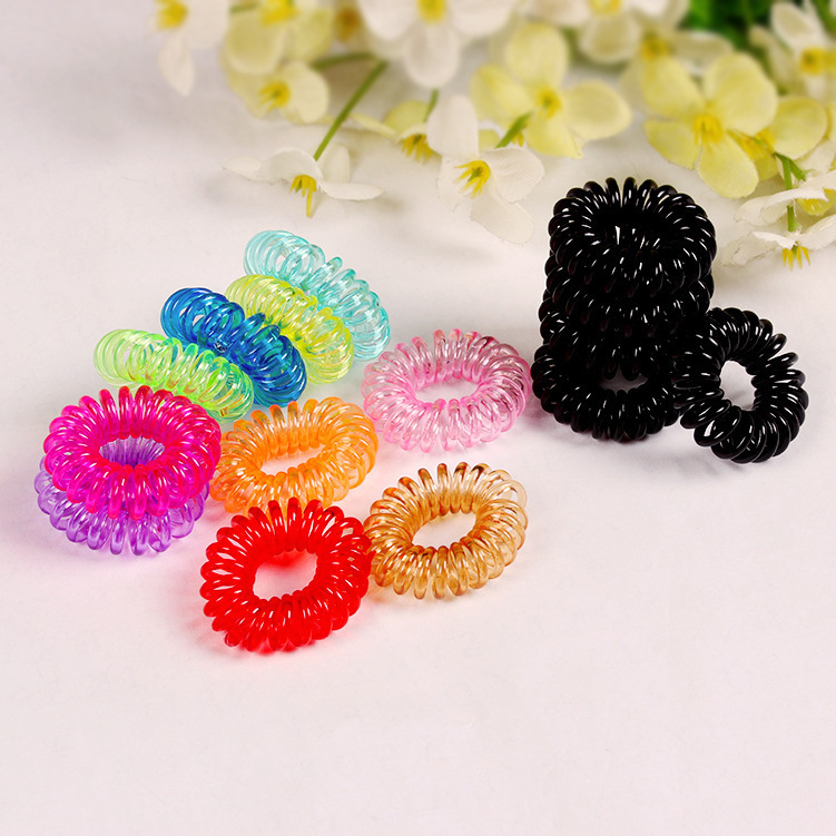 Baby Girls Women Telephone Wire Hair Band Headbands Hair Accessories Hair Ring Elastic Hairband Gum for Hair 2015 New Free(China (Mainland))