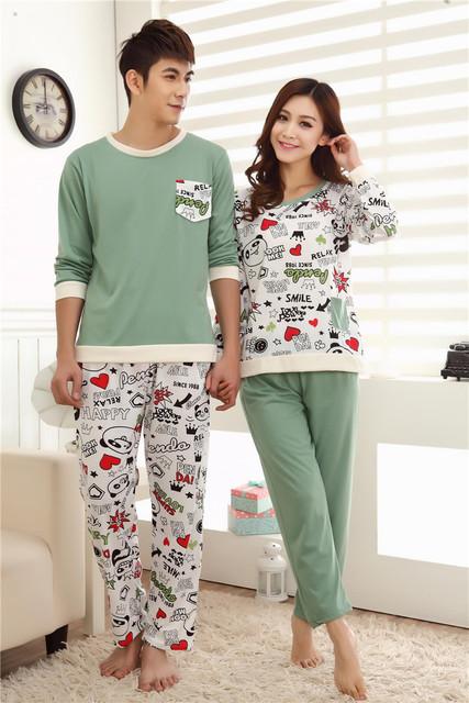Пижамы установить новое поступление весна и осень любителей пижамы медведь пижамы ...