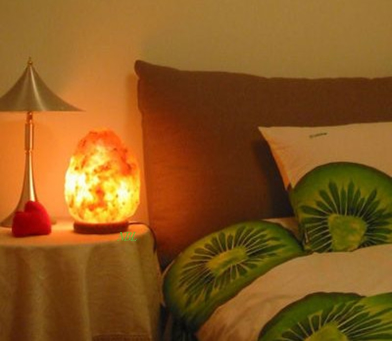 Healthy Life Himalayan Natural Crystal Salt Light Air Purifying Himalayan Salt Lamp With Wood ...