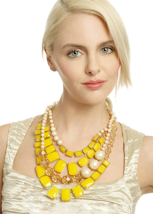 Multi Layers Pearl & Boxes Chain Couture Necklace Made For Fashion Lady(China (Mainland))