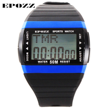 Buy EPOZZ Men's Digital LED Display Sports Watch Rectangle Male Wristwatch Back Light Chronograph Alarm Week Date Relogio Masculino for $7.13 in AliExpress store