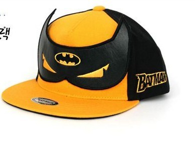 Hip Hop Cap Snapback Batman Children Hat Kids 2016 Fashion Boys Cap Hat Girl Character Peak Flat Baseball Hat Outfit Unisex Baby(China (Mainland))