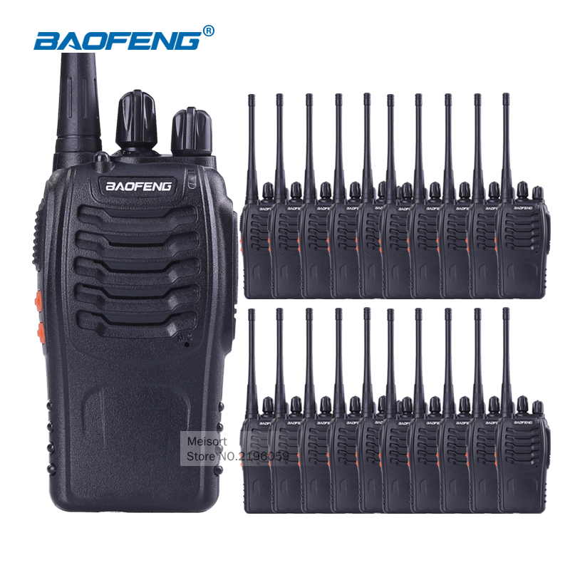 20pcs Baofeng Walkie Talkie with Earpiece BaoFeng 888s UHF Long Range 2 Way Radios Rechargeable Battery Ham Radio Communicator(China (Mainland))