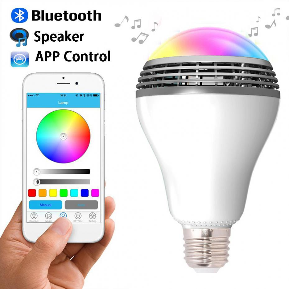 Newest Smart LED Bulb Light Wireless Bluetooth Speaker 110V - 240V E27 5W Lamp Audio for Android ISO iPhone iPad(China (Mainland))