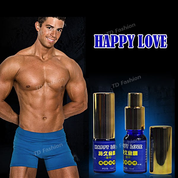 10ml Happy Love Non-Edible Non-toxic Delay Spray for Male Prolong liquid Adult products for men Sexy products Free Shipping(China (Mainland))