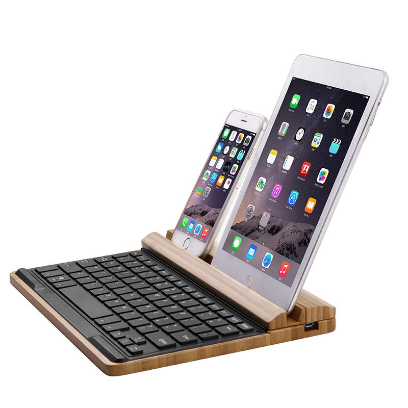 Original Bamboo Bluetooth Multimedia Keyboard For Apple iMac Macbook, iPhone and iPad PC Computer Creative Bluetooth Keyboard(China (Mainland))