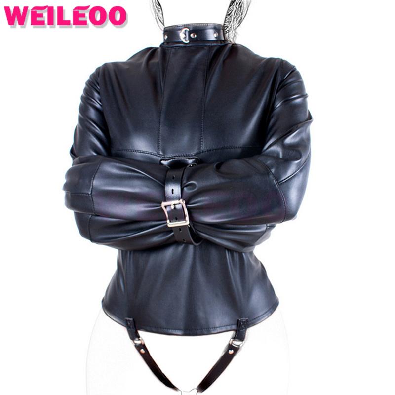 women in leather coat fetish domination