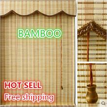 Free shipping Customize 1.5M*0.6M bamboo curtain bamboo curtain  door curtain roller shutter curtain(China (Mainland))