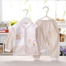 ultra-soft Baby rendering clothing Full cotton causal undershirts long-sleeved causal set clothing causal sleepwear sets ET10(China (Mainland))