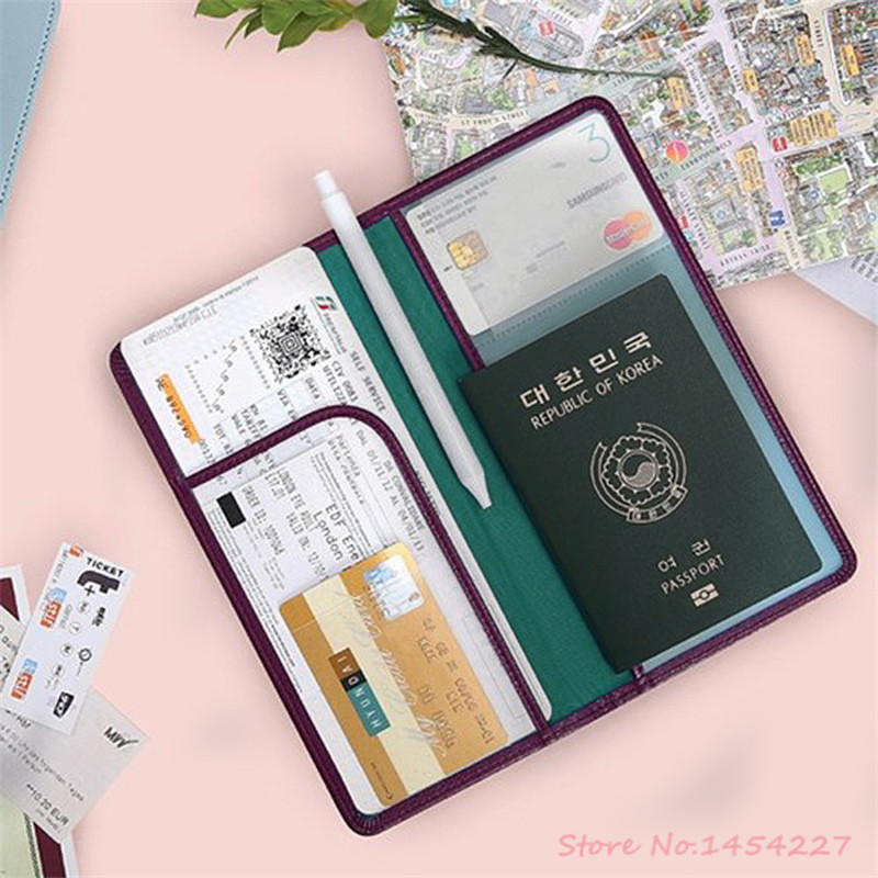2016 Hot Women & Men Fashion PU Leather Travel Passport Holder Cover ID Card Bags Passport Wallets Passport Documents Packets(China (Mainland))