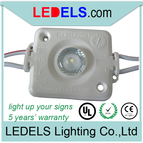 500pieces/lot UL CE Rohs listed Nichia Osram 12V 1.6W 120lm led module for light box Sign backlight 5 years warranty waterproof(China (Mainland))