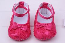2016 babyshoes rose flower cotton soft sole fashion baby toddler shoes 11 12 13(China (Mainland))