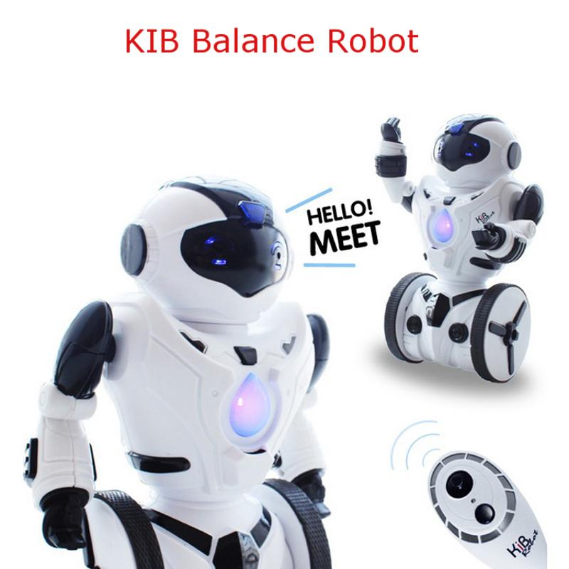 KiB RC Robot Intelligent Balance Wheelbarrow Remote Control Toy Sound Flash Dance Gesture Battle Load Action Figure kids gift(China (Mainland))