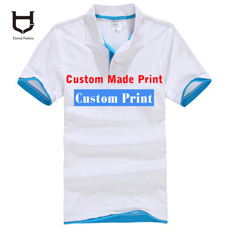 Custom-Made Poloshirts Camisa logo printing Embroidery Business logo Creat Shirts Screen printed t-shirts customized logo HY(China (Mainland))